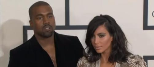 Grammy Awards: Kim Kardashian and Kanye West kiss for ages on the red carpet! | ODE/YouTube