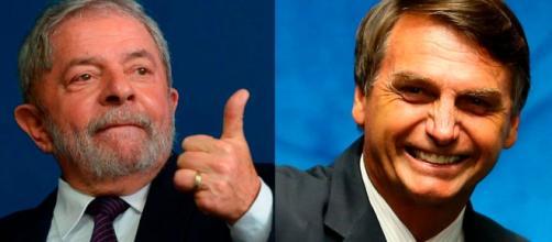 Lula e Bolsonaro pretendem se candidatar à presidência de 2018.