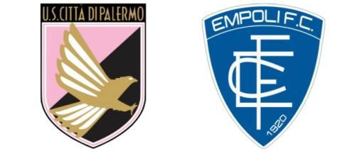 Serie B, Palermo-Empoli - Loghi U.S. Città di Palermo e Empoli F.C.
