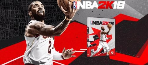 The first 'NBA 2K18' Box art featuring Kyrie Irving (NBA 2K/ YouTube)
