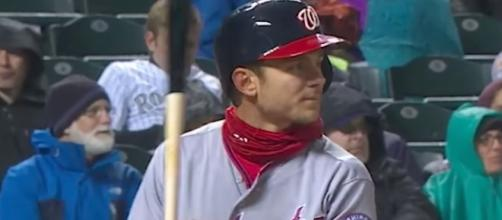 Trea Turner helped put the Washington Nationals ahead of the Phillies in the sixth inning of a 4-3 win on Thursday. [Image via MLB/YouTube]