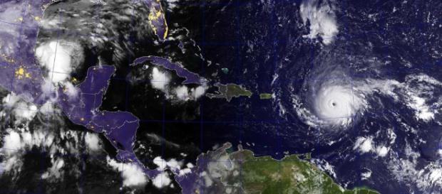 A GOES satellite image showing Hurricane Irma by Official U.S. Navy Page/Flickr