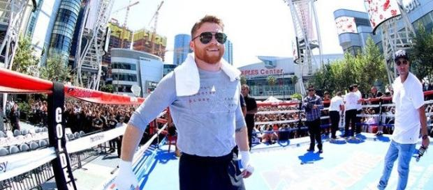 Canelo Alvarez/ photo by @BoxingNewsED via Twitter