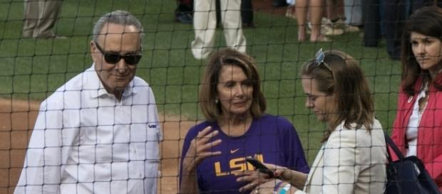 Congressional Baseball Game with Schumer (left) and Pelosi (center) / [Image by David via Flickr, CC BY 2.0]