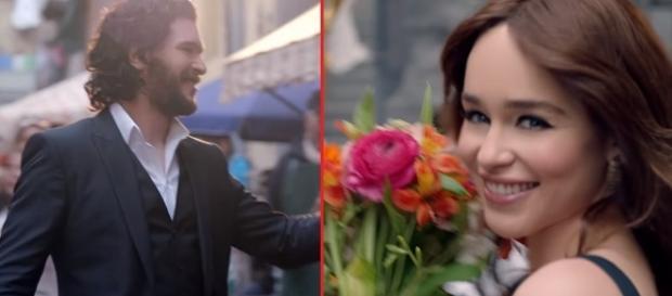 Kit Harington and Emilia Clarke. Screencap: Dolce & Gabbana via YouTube