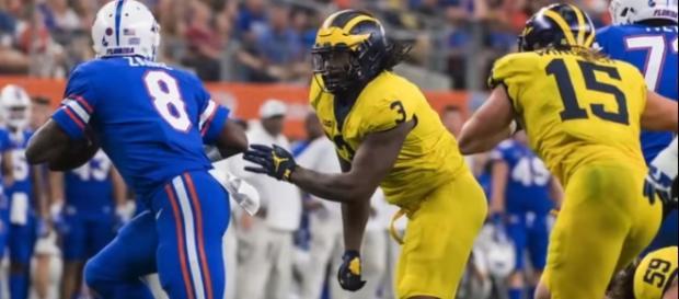 Michigan's defense was very impressive against Florida last week. [Image via YouTube]