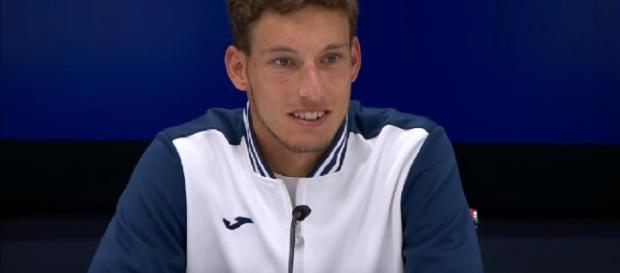 Pablo Carreno-Busta during a press conference at 2017 US Open/ Photo: screenshot via US Open Tennis Championships official channel on YouTube