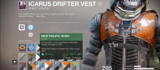 """Shaders in """"Destiny 2."""" [Image via YouTube/MoreConsole]"""