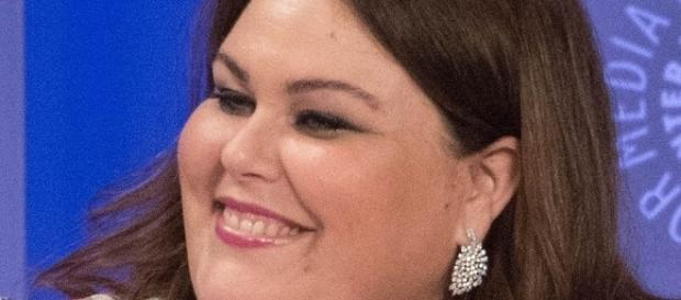 """""""This Is Us"""" Chrissy Metz explodes heads in latex dress. Source Wikimedia Chris Roth"""