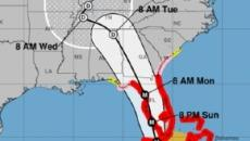 Hurricane Irma is now a category three storm as it approaches Florida coastlines