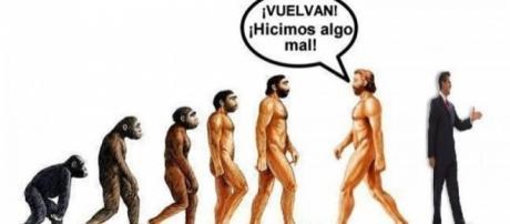 Gráfico de la involución del Homo Sapiens