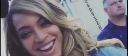 Beyonce visits Texas survivors. Image[IGotTheDirt-YouTube]