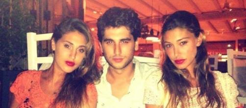 Da sinistra Cecilia, Jeremias e Belen Rodriguez