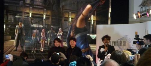 Godfather of the Final Fantasy series Yoshinori Kitase with Art Director Isamu Kamikokuryo. [Image via Raphael Essoo-Snowdon, Wikimedia Commons]