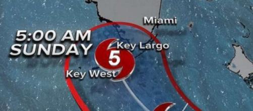 Hurricane Irma forecast to strike Florida Keys as Category 5 ... Youtube screen grab- go.com