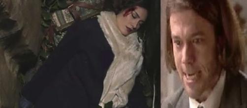 Il Segreto: Damian spinge Camila giù da un pozzo.
