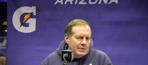Is Bill Belichick losing faith in the GOAT? Photo Credit: WEBN-TV on Flickr.com