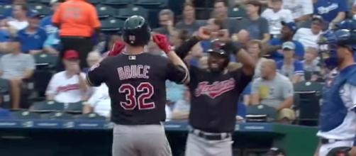 Jay Bruce helped the Cleveland Indians pick up their 17th-straight win on Saturday. [Image via MLB/YouTube]