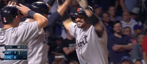Nicholas Castellano's grand slam home run helped the Detroit Tigers get Friday's 5-4 win over Toronto. [Image via MLB/YouTube]