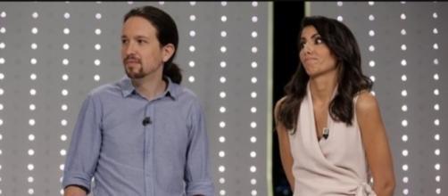 Pablo Iglesias y Ana Pastor en la televisión