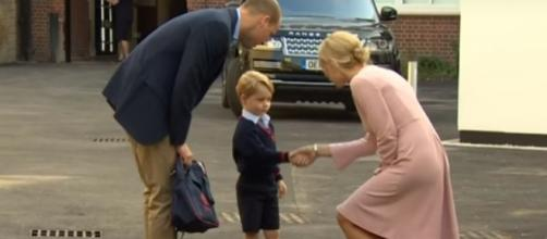 Prince George attends Thomas's Battersea London Day School- (YouTube/The Royal Family Channel)