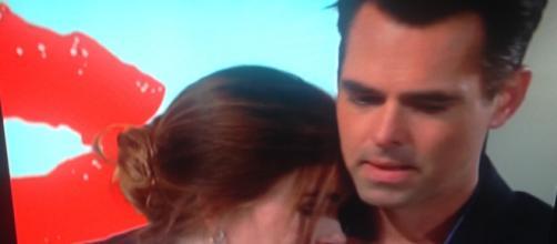 Victoria and Billy bonding. CBS/WDBJ screenshot. Cheryl E Preston.