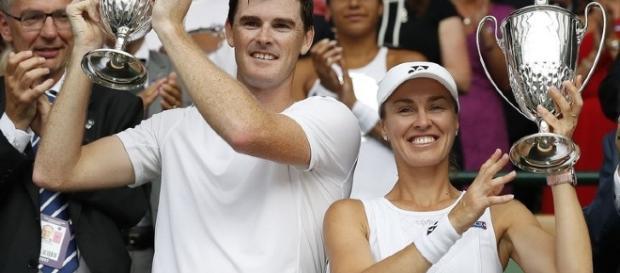 Après Wimbledon, le paire Hingis-Murray remporte l'US Open/ Skysports.com