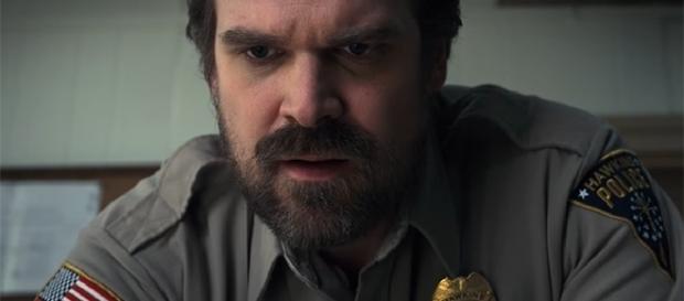 "David Harbour returns as Chief Jim Hopper in ""Stranger Things"" season 2. (YouTube/Netflix)"