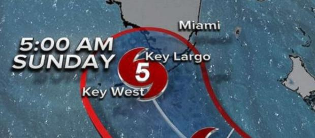 Hurricane Irma forecast to strike Florida Keys as Category 5 ... Youtube screen grab- go.com
