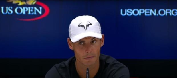 Rafael Nadal during a press conference at 2017 US Open/ Photo: screenshot via US Open Tennis Championships official channel on YouTube