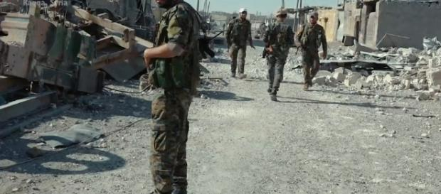 SDF fighters after capturing Raqqa in July. [Image via Wikimedia Commons]