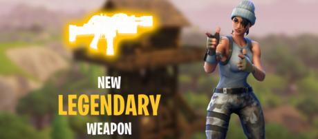 "New Legendary weapon is coming to ""Fortnite"" Battle Royale. Image Credit: Own work"