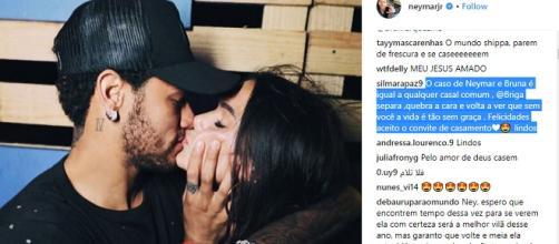 Casal apareceu se beijando, novamente