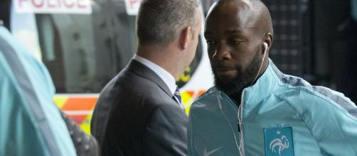 France footballer Lassana Diarra arrives in London for England ... - dailymail.co.uk