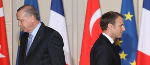 La rencontre des deux chefs d'Etat Turc et Français // AFP