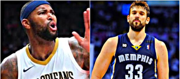 DeMarcus Cousins and Marc Gasol have been in and out of trade rumor mill this season - [image credit: Ximo Pierto/Youtube]