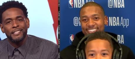 Isaiah Thomas interview with his son. - [NBA / YouTube screencap]