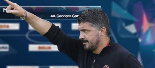 Gattuso nel suo nuovo Milan di Gennaio