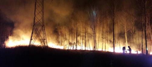 Inferno di fuoco in Calabria: lo spaventoso incendio filmato dall ... - fanpage.it