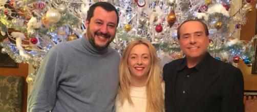 Matteo Salvini, Giorgia Meloni e Silvio Berlusconi