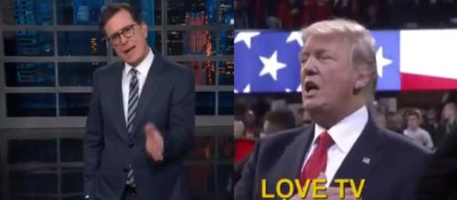 Stephen Colbert, Donald Trump, via Twitter