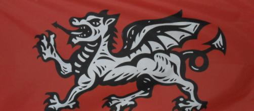 The original White Dragon flag of England - Dave Horne-Flickr
