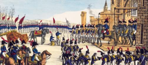 Toma de Valencia por las tropas francesas en enero de 1812 (grabado coloreado de France Militaire, del siglo XIX. Ed: París, Chez Jean).