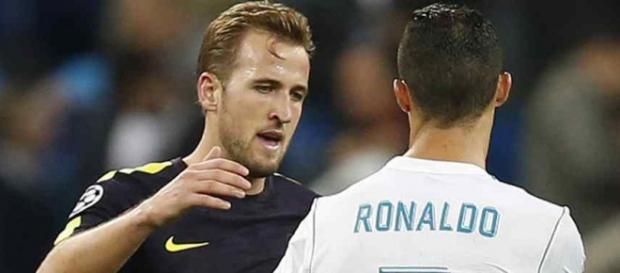 Kane e Ronaldo se encontraram na fase de grupos da Champions