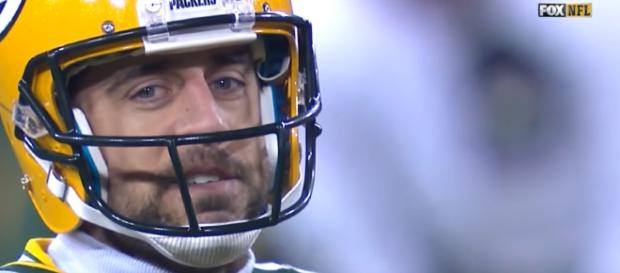 Quarterback Aaron Rodgers. [ image credit: Maris Graudins / YouTube]