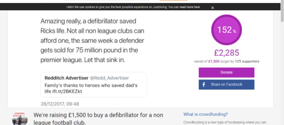 7ce90af046a Non-League campaign to raise money for defibrillators a roaring success