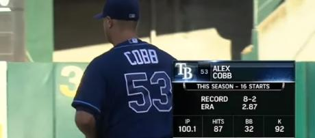 Alex Cobb is still a free agent. - [MLB / YouTube screencap]