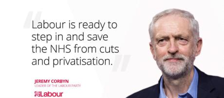 """Jeremy Corbyn on Twitter: """"Labour will step in and save the NHS ... - twitter.com"""