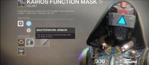 An upcoming Masterwork Armor in 'Destiny 2.' - [YouTube screencap / xHOUNDISHx]