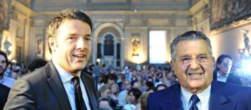 Carlo De Benedetti e Matteo Renzi